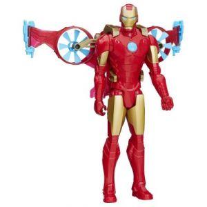 Hasbro Figurine Iron Man et aéropulseur Avengers Série Héros Titan 30 cm