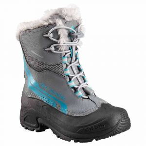 Columbia Bottes Youth Bugaboot Plus Iv Omni Heat - Ti Grey Steel / Pacific Rim - Taille EU 34