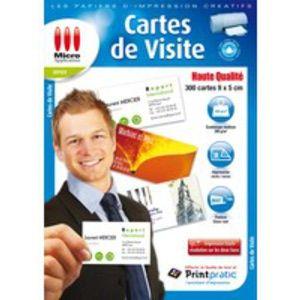 Micro application Papier créatif 300 cartes visite hte qualité