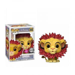 Funko Lion King Simba Leaf Mane Flocked Pop! Figure - EE Excl.