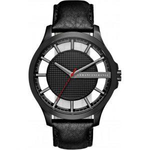 Giorgio Armani AX2180 - Montre pour homme avec bracelet en cuir