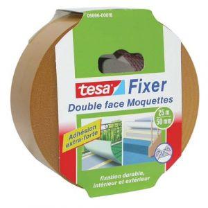 Tesa Ruban adhésif moquette double face - extra fort - 5 m x 50 mm - Adhésif double face