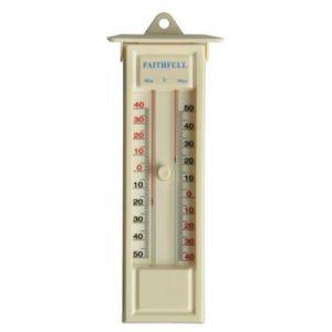 Faithfull Thermometres interieur / exterieur a memoire, Température - 50 à + 50° Celsius, dim. 230 mm