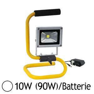 Vision-El Projecteur LED portable 10W (90W) orientable IP65 avec batterie