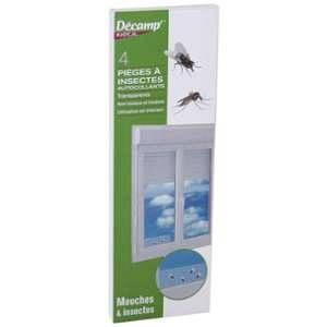 Decamp Piège à mouches fenêtres transparent x 4
