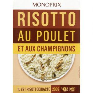 Monoprix Risotto au poulet et aux champignons