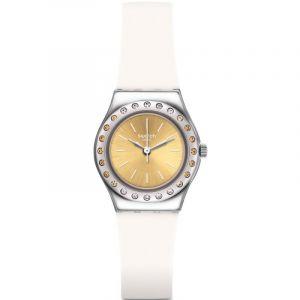 Swatch Femme Analogique Quartz Montre avec Bracelet en Silicone YSS314