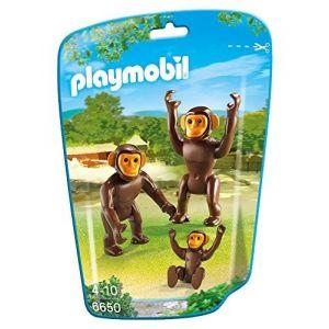 Playmobil 6650 City Life - Couple de chimpanzés avec bébé