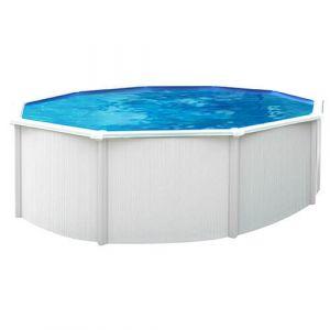 Abak Kit piscine métal hors sol SAPHIR PI8710-1 3.65 m : Aspect Bois