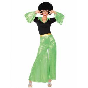 Déguisement disco vert pour femme