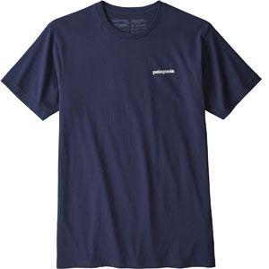 Patagonia T shirt p 6 logo organic classic bleu l