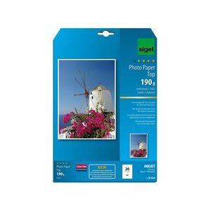Sigel 20 feuilles de papier photo Top 190g/m² (A4)