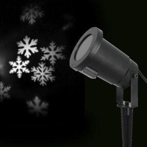 Projecteur LED de Noël - Flocons blanc