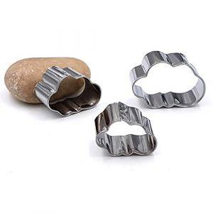Graine Créative 3 mini emporte-pieces inox nuages -