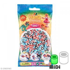 Hama Sachet de 1000 perles Midi : Bicolores