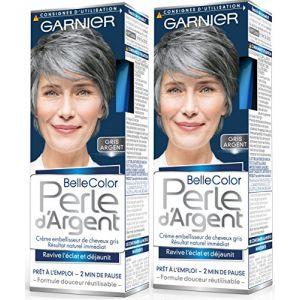 Garnier Belle Color Perle d'Argent - Crème déjaunisseur éclat cheveux gris Gris - Gris Argent