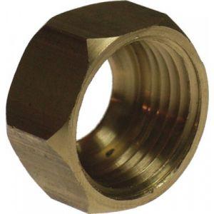 Gripp Ecrou laiton hexagonal à visser F 3/8' Ø 10 mm Pour joints industrie