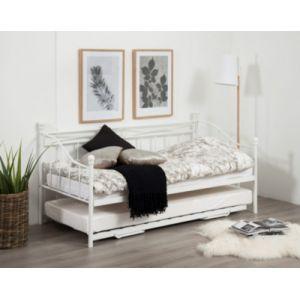 Image de mooved Lit banquette gigogne OLIVA 2x90x190 cm blanc