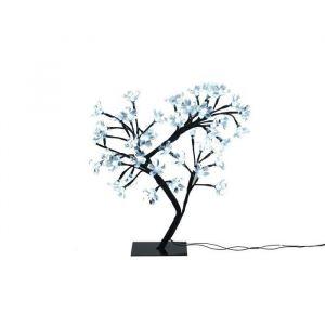 Christmas Dream Arbre 48 fleurs LED 42 cm Blanc et noir