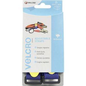 Velcro Bande auto-agrippante brand VEL-EC60328 avec boucle partie velours et partie crochets (L x l) 460 mm x 25 mm ble