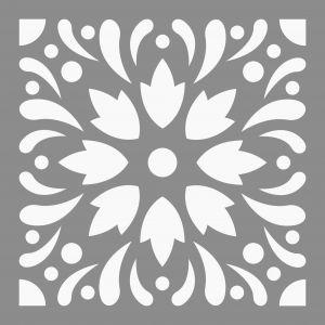 Artémio Pochoir - Carreau de ciment 4 - 15x15 cm