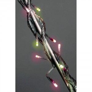 Blachère illumination Guirlande flicker 128 LED fil transparent  (8 m)
