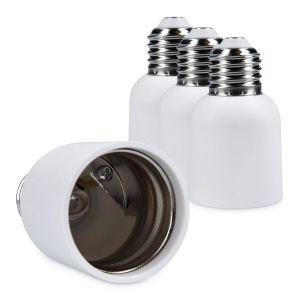 Kwmobile 4x adaptateur de douille - Convertisseur de douilles E27 vers E40 - Adaptateur de support de lampe culot E40 pour ampoule LED halogène