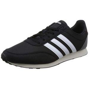 Adidas V Racer 2.0 Homme, Noir (Core Black/Solar Red/Footwear White 0), 49 1/3 EU