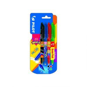 Pilot Lot de 3 stylos roller FriXion Ball + 1 stylo vert - MIKA EDITION LIMITÉE