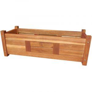 VidaXL Jardinière en bois d'acacia 76 x 27,6 x 25 cm