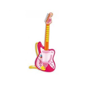 Bontempi Guitare rock électronique rose 56 cm