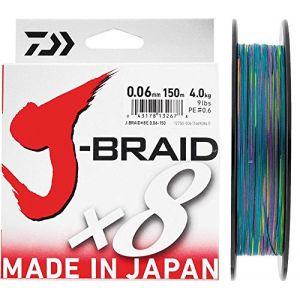 Daiwa J-Braid 8 Braid 0.13mm, 8,0kg/18lbs, 150m multicolore