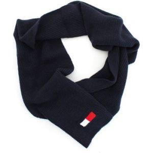 Tommy Hilfiger Echarpe Big Flag en laine et coton mélangés bleu marine