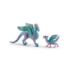 Schleich Figurine dragon aux fleurs et bébé Bayala 70592