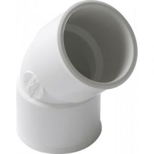 Nicoll Coude PVC blanc 45° femelle / femelle diamètre 50 N