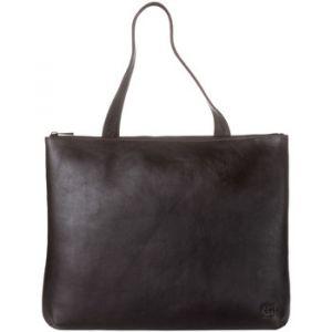 Dudu Sac porté épaule pour femme en Cuir souple Design Essentiel rectangulaire avec fermeture éclair Brun foncé