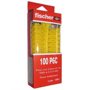 Fischer 100 Chevilles crampon rouge en grappe 8x34