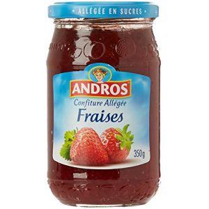 Andros Confiture allégée fraises - Le pot de 350g