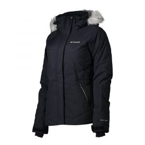Columbia Femme Veste de Ski Isolée, LAY D DOWN, Finition polyester, Noir (Black Metallic), Taille : XS