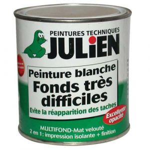 Julien Peinture multifond - 2.5 L - blanc mat - fonds très difficiles - Peinture façade, Crépi