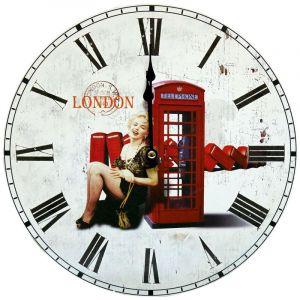 Eglo Une belle horloge murale rétro en design >
