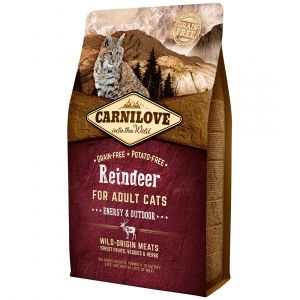 Carnilove Adult Energy & Outdoor Reindeer - Sac 6 kg
