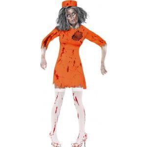 Déguisement de zombie prisonnière femme Halloween (taille S)