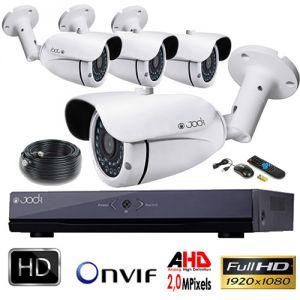 Jod-1 Kit vidéosurveillance AHD PRO 1080P 4 caméras 2,0 MP