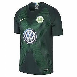 Nike Maillot de football 2018/19 VfL Wolfsburg Stadium Home pour Enfant plus âgé - Vert - Taille L