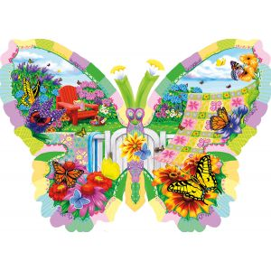Sunsout Puzzle Nancy Wernersbach - Butterfly Summer