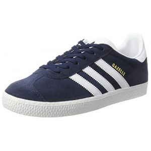 Adidas Gazelle, Baskets Basses Mixte Enfant, Bleu (Collegiate Navy/Footwear White/Footwear White), 35.5 EU