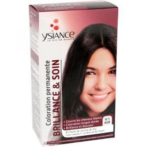 Ysiance Coloration permanente Brillance et soin noir N°1 - 115 ml
