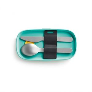 Lékué Set de 3 couverts en inox spécial lunch box basics To Go