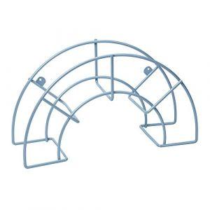 Sauvic 03310 Support pour Tuyau d'Arrosage Plastifié Grand Acier Gris 46 x 15 x 26 cm